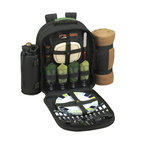 Picnic at Ascot - ECO Picnic Backpack Cooler with Blanket for Four - Features: