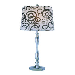 Lite Source - 1 Light Table Lamp With Painted Fabric Shade - To put it plainly and simply, Lite Source is a quality manufacturer of a vast selection of both beautiful and affordable interior lamps, not to mention a small number of other household items.