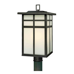 Mission Black Outdoor Post Light