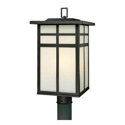 Thomas Lighting - Mission Black Outdoor Post Light - Thomas Lighting SL90067 Mission Black Outdoor Post Light