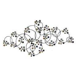 Benzara - Metal/Ceramic Bead Wall Decor - Wall decor with great utility. Support your existing wall decor with 61539 Metal/CERAMIC BEAD WALL DECOR. It is an excellent anytime low priced wall decor upgrade option with great utility for everyone. Just have a look over this unique wall piece, you will fall in instant love with its beauty. It is designed with intrigued circles adored with round pieces of ceramics.