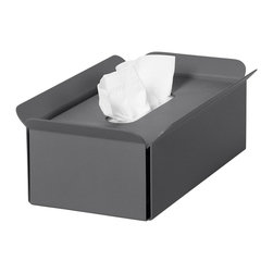 WS Bath Collections - Tissue Box in Dark Grey - Modern/contemporary design. Designer high end quality. Warranty: One year. Made from powder coated aluminum. Made in Italy. No assembly required. 11 in. L x 6.3 in. W x 3.5 in. H (2 lbs.). Spec SheetUnique and fine bath accessories and complements, that provide inspirational solutions for every decor.