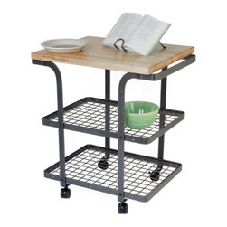 "Enclume - Rectangle Bakers Cart Hammered Steel - Dimensions: 34""L x 24""W x 36"" H"