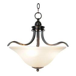 "AF Lighting - AF Lighting Sanibel Three-Light Ceiling Pendent Fixture 17.5"" Oil Rubbed Bronze - Three-Light Ceiling Pendant"