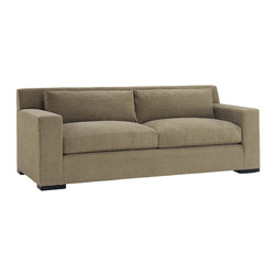 Lazar Industries - Corvo 2-Seater Sofa in Woolco Taupe - Corvo 2-Seater Sofa by Lazar Industries offers exceptional style and comfort with track arms and exquisite tailoring.