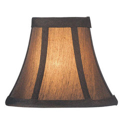 Lite Source - Candelabra Shade/Black With Gold - 3in.Tx6in.Bx5in.Sh - Candelabra Shade/Bronze - 3 in. Tx6 in. Bx5 in. Sh