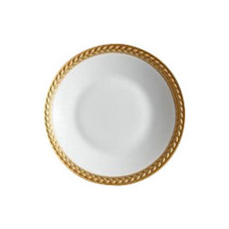 "L'Objet - L'Objet Soie Tressee Gold Sauce Dish / Spoon Rest - The braid made modern, Soie Tressee offers a distinct, contemporary take on an ancient shape. Limoges porcelain available in White, hand-gilded 24K Gold, or Platinum. Limoges Porcelain. 24K GoldDimensions: 3"" L'Objet is best known for using ancient design techniques to create timeless, yet decidedly modern serveware, dishes, home decor and gifts."