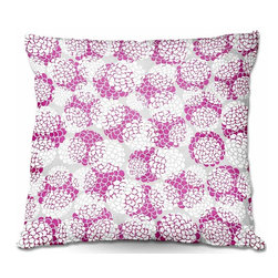 DiaNoche Designs - Pillow Woven Poplin from DiaNoche Designs by Pom Graphic Design - Violet Floral - Toss this decorative pillow on any bed, sofa or chair, and add personality to your chic and stylish decor. Lay your head against your new art and relax! Made of woven Poly-Poplin.  Includes a cushy supportive pillow insert, zipped inside. Dye Sublimation printing adheres the ink to the material for long life and durability. Double Sided Print, Machine Washable, Product may vary slightly from image.