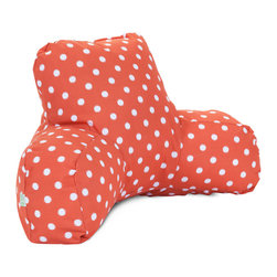Majestic Home - Outdoor Orange Ikat Dot Reading Pillow - If you've ever had one of these backrest pillows, you know there's nothing quite like them for sitting up comfortably in bed with your book or your breakfast. This one is not only particularly cute, with its colorful ikat dot print, it's also outdoor treated, so you can actually use it out on the lawn or by the pool. And if you spill your coffee or cocktail, don't worry: The cover is removable for easy cleaning.