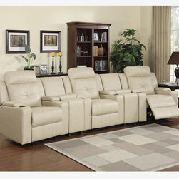 Leather Power Reclining Chairs Recliners Console Charging Station USB -