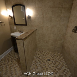 Baltimore Half Wall Bathroom Design Ideas Pictures