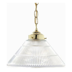 """Nuvo Lighting - Nuvo Lighting 76/255 Single Light 12"""" Pendant with Prismatic Cone Shade, in Poli - Nuvo Lighting 76/255 Single Light 12"""" Pendant with Prismatic Cone Shade, in Polished Brass FinishNuvo Lighting 76/255 Features:"""