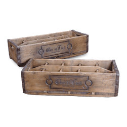 Original Commercial Wine Case - You can dress up or dress down these vintage wine cases. Anything you put in them will look great.