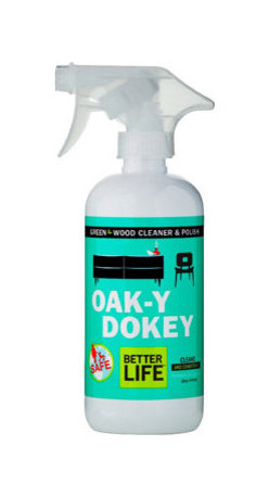 Better Life - Better Life Oaky Doky Wood Cleaner and Polish - 16 fl oz - Get that dining table to shine like the day you bought it. This wood cleaner and polish uses all natural ingredients to wipe away the grime and get that wood grain lustrous. Whether you use it on your cabinets, bookshelves or furniture, your wood surfaces – and the environment – will thank you.