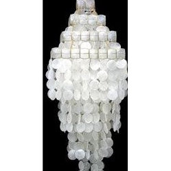 White Capiz Shell Chandelier