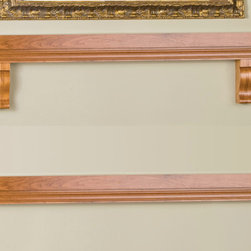 Hunter with Brackets Fireplace Mantel Shelf - Available with or without brackets, the Wood Hunter with Brackets Fireplace Mantel Shelf offers flexibility and ease in selecting a shelf to complement your fireplace. -Mantels Direct