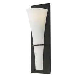 Murray Feiss - Murray Feiss Barrington Transitional Wall Sconce X-BRO1431BW - This modern transitional wall sconce is designed to complement the decor in your home. The etched glass shade and oil rubbed bronze finish give this piece a handcrafted look that is sure to get attention. The clean lines and very elegant design make this sconce very versatile and able to be used in nearly any room in your home.
