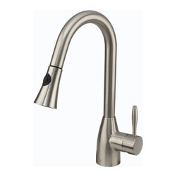 VIGO Industries - VIGO Stainless Steel Pull-Out Spray Kitchen Faucet - Purchase a VIGO pull-out kitchen faucet for optimal spout reach and height.
