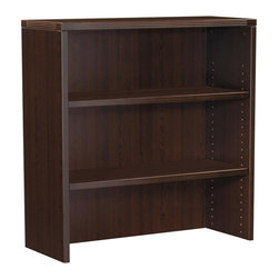 OSP Furniture - Napa Open Hutch w Sturdy Top in Espresso Fini - Commercial grade. Scratch resistant and textured thermally fused laminate surfaces. Non handed. Sturdy 1.13 in. top with tri-groove edge design. Impact resistant 3mm PVC edges. GREENGUARD Indoor Air Quality Certified. Warranty: Ten years. Made from wood. Assembly required. 36 in. W x 14 in. D x 36 in. H (77 lbs.). Assembly InstructionNapa is built to support todays businesses with solutions for offices, conference and reception areas that provide long-lasting furnishings value. From the executive and managers offices, to multi-person configurations.