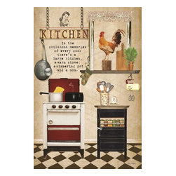 Stupell Industries - Kitchen Story Beige Wall Plaque - Made in USA. Ready for Hanging. Hand Finished and Original Artwork. No Assembly Required. 15 in L x 0.5 in W x 10 in H (2 lbs.)What better way to add class to your home than with a wall plaque from the Stupell Home Decor Collection? Made in the USA and featuring original artwork,you are sure to find the perfect match for wherever you are looking to design. Each plaque comes mounted on sturdy half inch thick mdf and features hand painted edges.  It also comes with a sawtooth hanger on the back for instant use.