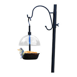 PineBush - Mealworm Feeder - Adjustable rain cover. High side to prevent light feeds from blowing away.