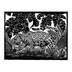 """Jaguar"" Artwork - Jaguar on the prowl. Matted to 14 x 16 with acid-free materials."
