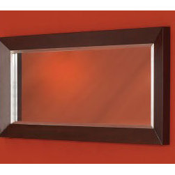 "DecoLav - DecoLav 9785-RM Red Mahogany Cityview 60"" Cityview Framed Mirror - 60"" Cityview Framed Mirror  60""W x 3""D x 30""H Beautiful Framed Mirror Deep Red Mahogany Finish Wood Solid Wood  This Unit is Part of the Cityview Collection:  1465 - Main Sink, Single Faucet Hole 1466 - Main Sink, 8"" Faucet Centers 5660 - Vanity Cabinet 9785- Side Cabinet 9915 - Framed Mirror"