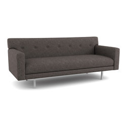 Viesso - Ason Sofa (Quickship) - This modern sofa has a classic look to it, drawing inspiration from mid-century lines. The buttons bring out the timeless look, and the proportions bring out a modern twist. Despite the shallow depth, which makes it great for smaller spaces, it is still a very comfortable mid-century modern sofa. This Ason Sofa is part of our Quickship collection. This program is where we make our most popular custom designs but with less options. Because of this, we can make them in only 10 days and at a very reduced price. To customize the Ason Sofa, please click here. To order free fabric samples or see bigger swatches, please click here.