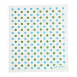 Swedish Dishcloth Confetti, Blue/Green - THE SWEDISH ECO-FRIENDLY DISHCLOTH: The dry sponge cloth was invented in 1949 by the Swedish engineer Curt Lindquist, who discovered that a mixture of natural cellulose (wood pulp) and cotton can absorb an incredible 15 times its own weight in water.