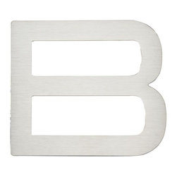 Atlas Homewares - Stainless Steel Paragon Letter B (ATHPGNBSS) - Stainless Steel Paragon Letter B