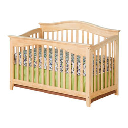 Atlantic Furniture - Atlantic Furniture Windsor Convertible Crib in a Natural Maple Finish - Atlantic Furniture - Cribs - J98105 - Designed to adapt to the needs of a growing child Atlantic cribs convert from a crib to a day bed and then a full size bed. All cribs are manufactured with solid Eco-Friendly hardwood. Steel fasteners and solid hardwood construction exceeds industry standards for safety. Mortise and tennon side panel construction provides unsurpassed strength and durability. Our five step finishing process is non-toxic and lead free. Each crib has a 5 position adjustable mattress support system and converts to a full size bed with the addition of a bolt on metal bed frame.Features: