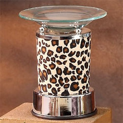 Artico - Electric Oil Burner with Fabric Nature Cheetah Animal Print and Saucer - This gorgeous Electric Oil Burner with Fabric Nature Cheetah Animal Print and Saucer has the finest details and highest quality you will find anywhere! Electric Oil Burner with Fabric Nature Cheetah Animal Print and Saucer is truly remarkable.