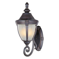 Maxim - Maxim Wakefield 1-Light Empire Bronze, Marble Glass Wall Lantern - This 1-Light Wall Lantern is part of the Wakefield Collection and has an Empire Bronze Finish and Marble Glass. It is Wet Rated and Outdoor Capable.