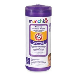 Munchkin - Munchkin  Arm & Hammer 50-Count All-Purpose Nursery Wipes - These are the perfect go-to cleaning tool for on-the-go. They are great to clean changing stations, high chairs, shopping carts and other surfaces.