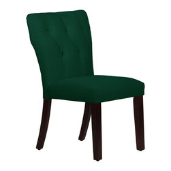 None - Made to Order Tufted Hourglass Dining Chair - Upholstered tufted hourglass dining chair