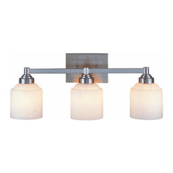 """Savoy House - Savoy House 8-4658-3 3 Light 24.25"""" Wide Bathroom Fixture from the Wilmont Colle - Wilmont Collection 3 Light Bathroom Fixture24-1/4""""W x 9-1/2""""H x 7-3/8""""E3E 100WEtched Opal White Glass"""