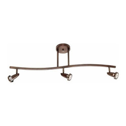 Access Lighting - Access Lighting 52223 Mirage 3 Light Semi-Flush Ceiling Spot Light with Swivel B - Product Features: