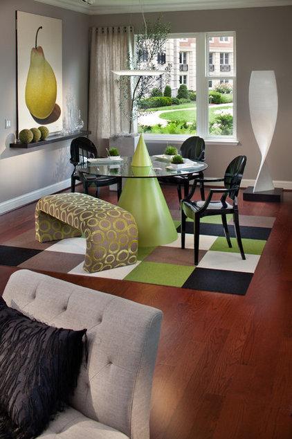 Contemporary Living Room by Victor Liberatore Interior Design
