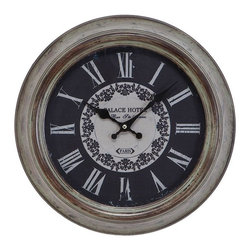 Benzara - Metal Wall Clock Weather Resistant - METAL WALL CLOCK is an excellent anytime low priced wall decor upgrade option that is high in modern age decor fashion.