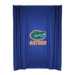Sports Coverage - NCAA Florida Gators College Bathroom Accent Shower Curtain - Features: