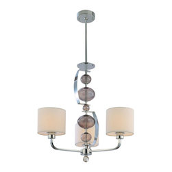 Troy Lighting - Troy Lighting F2863PN Fizz 3 Light 24 Chandelier - Since 1963, Troy Lighting has been creating highly original fixtures shaped by a passion for design, quality and value.