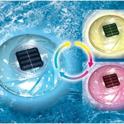 Swimline Color Changing Floating Solar Rainbow Light - This Swimline Color Changing Floating Solar Rainbow Light will have you feeling like a chameleon as you lounge or play in your pool on a perfect summer day. The solar-powered light does not require batteries but continuously changes color while charging in the sun. Perfect for reflecting on the water, off walls -- and you -- the rainbow light floats but can also be used freestanding next to the pool.About SwimlineFamily owned and operated since 1971, Swimline has grown to be the largest manufacturer of above-ground swimming pool liners in the world. They're also the largest importer of in-ground and above-ground swimming pool covers and related accessories. Swimline founded International Leisure Products in 1990, branching out to pool toys, games and accessories. They grew once again in 1994 when Leisure Products acquired United Leisure Industries Hydrotools Inc., an manufacturer of pool accessories like leaf skimmers, brushes and vac heads.