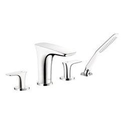 Hansgrohe - Hansgrohe PuraVida 4 Hole Roman Tub Faucet Trim, Chrome (15446001) - Hansgrohe 15446001 PuraVida 4 Hole Roman Tub Faucet Trim, Chrome