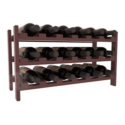 18 Bottle Stackable Wine Rack in Pine with Cherry Stain + Satin Finish - Expansion to the next level! Stack these 18 bottle kits as high as the ceiling or place a single one on a counter top. Designed with emphasis on function and flexibility, these DIY wine racks are perfect for young collections and expert connoisseurs.