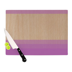 "Kess InHouse - Brittany Guarino ""Art Purple"" Lavender Wood Cutting Board (11.5"" x 15.75"") - These sturdy tempered glass cutting boards will make everything you chop look like a Dutch painting. Perfect the art of cooking with your KESS InHouse unique art cutting board. Go for patterns or painted, either way this non-skid, dishwasher safe cutting board is perfect for preparing any artistic dinner or serving. Cut, chop, serve or frame, all of these unique cutting boards are gorgeous."