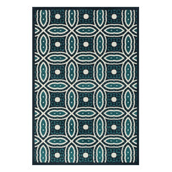 """Loloi Rugs - Loloi Rugs Catalina Collection - Navy / Peacock, 9'-2"""" x 12'-1"""" - Made of very weather-resilient polypropylene, the Catalina Collection features indoor/outdoor rugs with bold patterns and can't-miss, vibrant colors that look amazing in indoor or outdoor spaces. Each design is power loomed in Egypt and tested withstand UV rays and sunshine."""