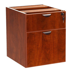 Boss Chairs - Boss Chairs Boss 2 Hanging Pedstal - 3/4 Box/File in Cherry - The 3/4 pedestal features a file and box drawer. It can be used with any of the series desk shells Finished in Cherry laminate