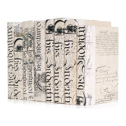 Go Home - Go Home Linear Foot of Ivory Bold-Spenserian Books - Grace your study room, studio or library with this Linear Foot of Ivory Bold-Spenserian Books. It comes from our French country collection and features ivory color and bold letters. This thoughtful decorative piece also serves as an excellent gift item for your writer friend as a gesture of appreciation who will cherish it for the whole life.