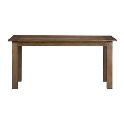 Terravida Dining Table - This is the classic farm table — simple and easy. Perfect with a super groovy white modern chair.