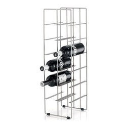 Blomus - PILARE Wine Bottle Storage - A smart storage solution for wine enthusiasts, the PILARE Wine Bottle Storage can store up to twelve standard wine bottles in an elegant, space-saving design. This lightweight and free-standing wine rack has a small footprint, can be easily transferred for convenient access, and displays your wine collection with contemporary style.